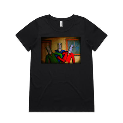 Friendly Faces Womens Shallow Scoop Tee Thumbnail